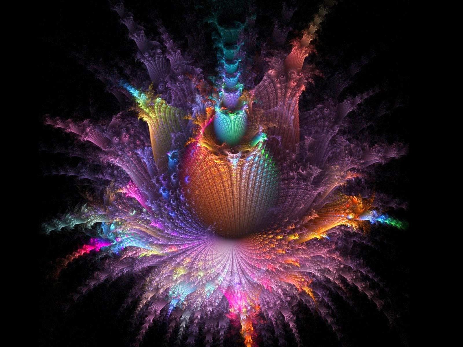 Fractal Art Colorful Desktop Wallpaper